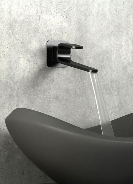 Kawa wall-mount bassin faucet detail