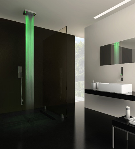 cisal shower drops 1 Lighted Shower from Cisal   'Drops' turns on the light to a new showering experience…