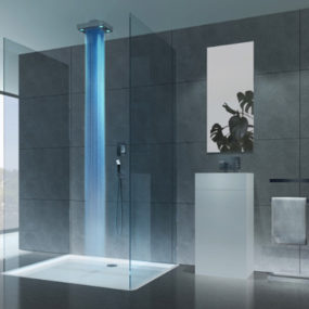 Lighted Shower from Cisal – 'Drops' turns on the light to a new showering experience…