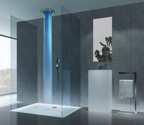 cisal shower drops 3 Lighted Shower from Cisal   'Drops' turns on the light to a new showering experience…