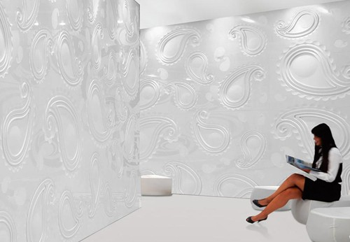 citco tiles paisley 2 Paisley Tile Pattern in 3D by Citco