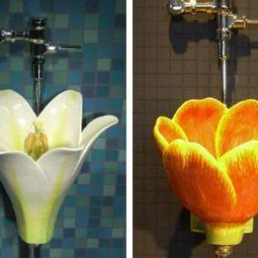 Flower Urinal – the newest designs by Clark Sorensen