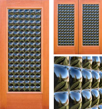 clearcast sculptural glass door