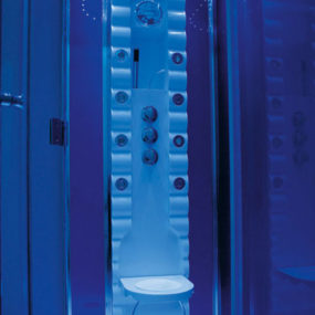 Colored LED Shower Cabin from Colacril – the Butterfly will sooth and invigorate