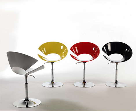 Colico Design Diva chairs - one-leg adjustable option