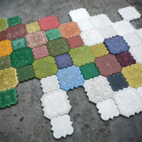 Colored Concrete Tile: Flaster from Ivanka