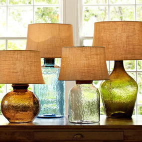 Colored Glass Table Lamps from Pottery Barn – Clift collection