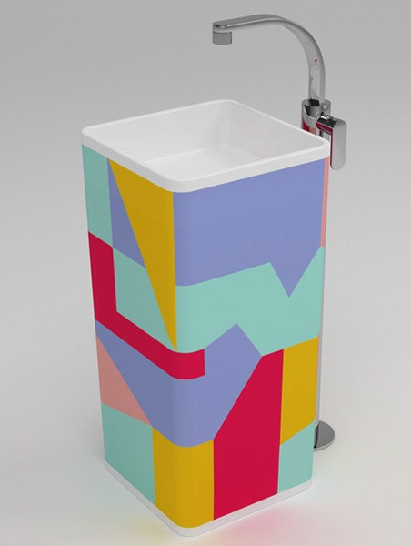 colored pedestal sinks monowash flaminia 2 Colored Pedestal Sinks   Monowash sink by Ceramica Flaminia