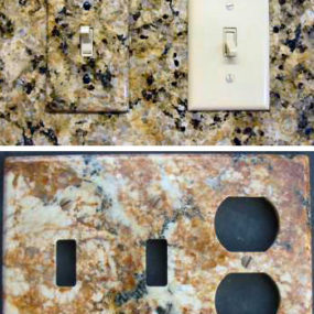 Natural stone switchplates by Columbia Gorge Stoneworks – eco-friendly stone wallplates