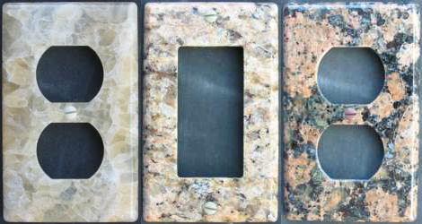 columbia gorge stoneworks stone wallplates Natural stone switchplates by Columbia Gorge Stoneworks   eco friendly stone wallplates