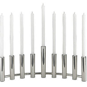 Column Menorah from Crate & Barrel – the contemporary style Hanukkah menorah