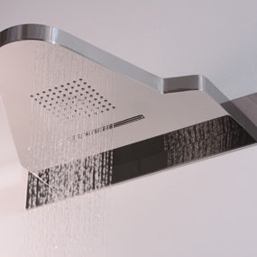 Combination Shower Heads – combo head I.WO by Hego gives you shower, waterfall and a shelf!