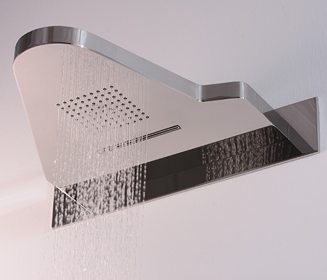 combination shower heads i wo hego 1 Combination Shower Heads   combo head I.WO by Hego gives you shower, waterfall and a shelf!