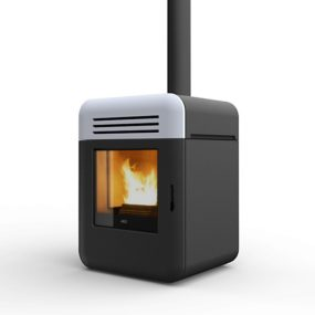 Compact Pellet Stove with a Minimal Design by MCZ