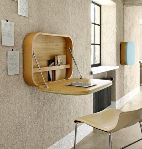 compact wall mount work desk nubo by ligne roset 1 Compact Wall mount Work Desk Nubo by Ligne Roset
