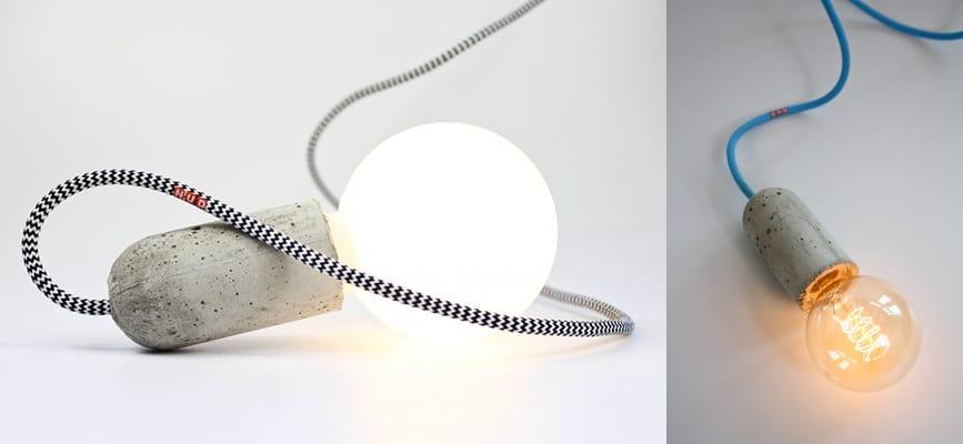 Concrete socket lights by nud aloadofball Images