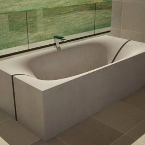 Concrete Tub that splits in the middle – Wave by DadeDesign
