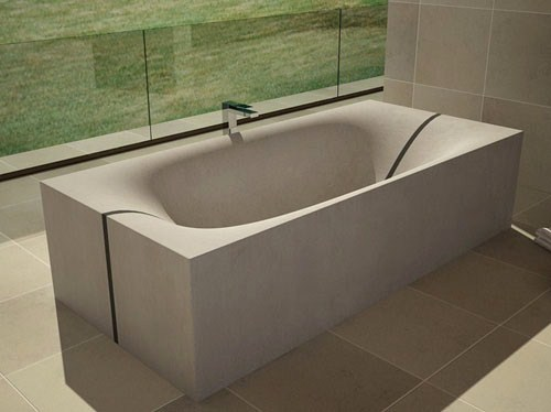 Concrete Tub That Splits In The Middle Wave By Dadedesign