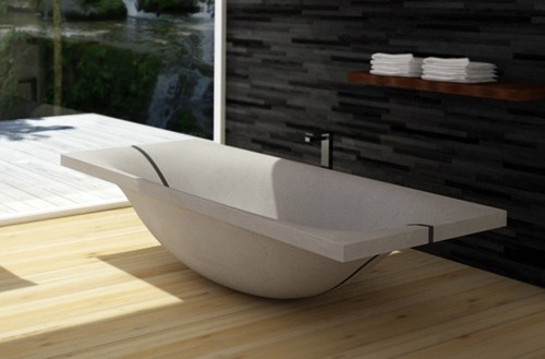 concrete tub wave dadedesign 2 Concrete Tub that splits in the middle – Wave by DadeDesign