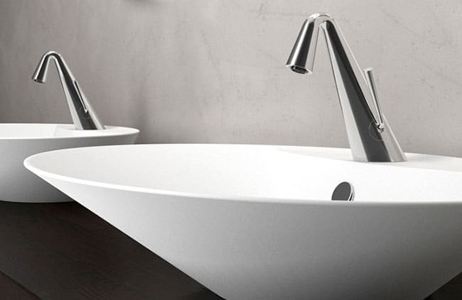 Cone Faucets By Gessi Contemporary Art For The Bathroom