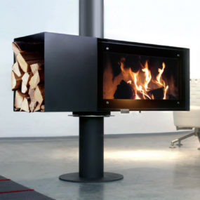 Rotating Wood Burning Fireplace from Conmoto – new Turn