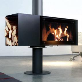 Rotating Wood Burning Fireplace from Conmoto – new Turn