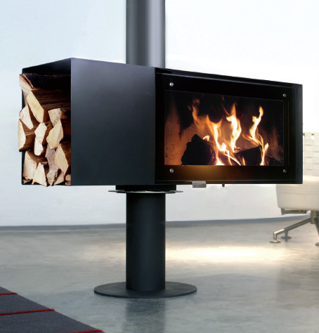 conmoto stove turn 1 Rotating Wood Burning Fireplace from Conmoto – new Turn