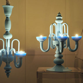 Contemporary Candelabra Lighting by Andromeda comes with candles!