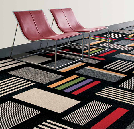 Contemporary Carpet Tiles Modular Decorative Floor Carpet Tile By