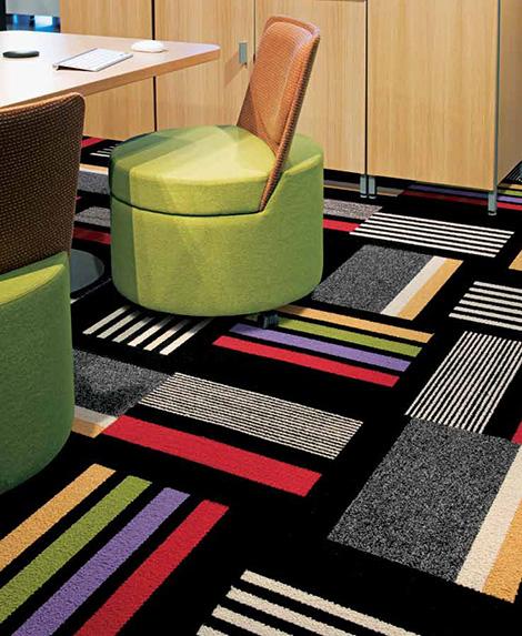 contemporary carpet tiles interfaceflor 2.jpg Contemporary Carpet Tiles   modular decorative floor carpet tile by InterfaceFlor
