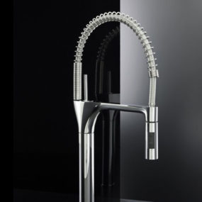 Contemporary Commercial Kitchen Faucet – Swing by Fima