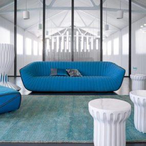Chic Blue Sofa from Roche Bobois – Nautil by Cedric Ragot