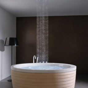 Contemporary Round Bathtub with Skirt by Porcelanosa – new Soleil Round