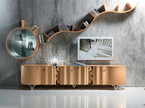contemporary sideboard mistral carpanelli 1 Contemporary Sideboard: Mistral with Curved Doors, by Carpanelli