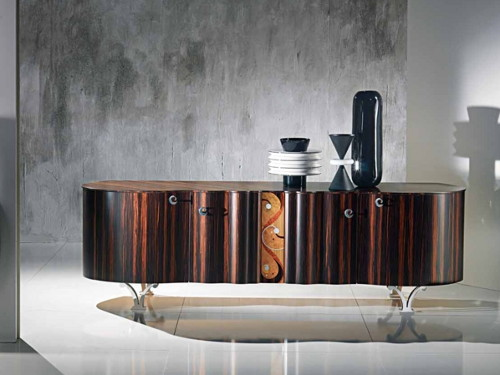 contemporary sideboard mistral carpanelli 2 Contemporary Sideboard: Mistral with Curved Doors, by Carpanelli