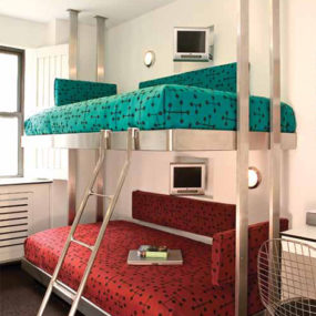 Contemporary Stainless Steel Bunk Beds by Neo-Metro