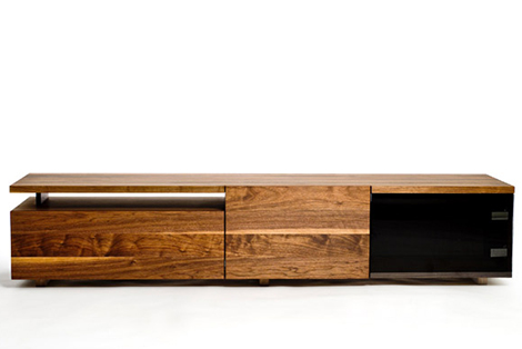 Contemporary Storage Furniture For Media Clothes In Solid Hardwood
