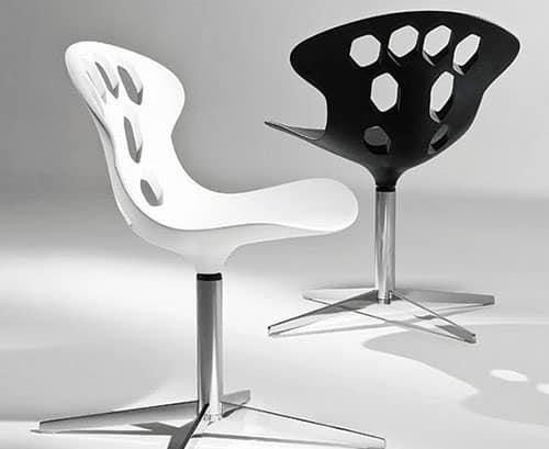 contemporary swivel chairs tonon exagon 1 Contemporary swivel chairs by Tonon – Exagon
