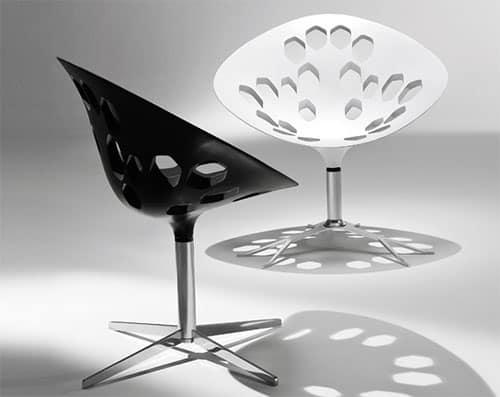 contemporary swivel chairs tonon exagon 2 Contemporary swivel chairs by Tonon – Exagon