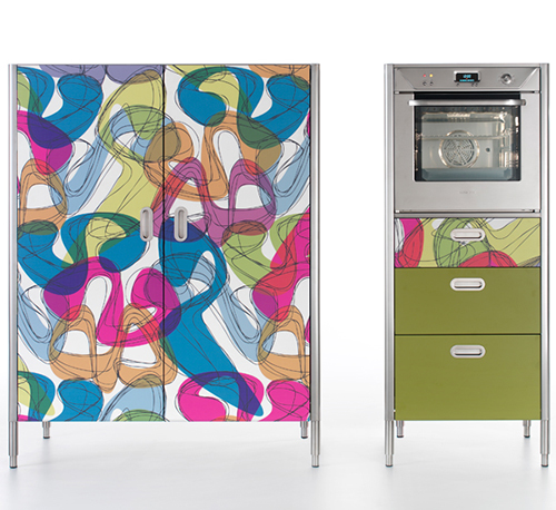 cool colorful kitchens alpes karim rashid 1 Cool Colorful Kitchens: Alpes by Karim Rashid