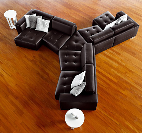 cool leather sofas ditre italia 1 Cool Leather Sofas   build your sofa as you dream it, by Ditre Italia