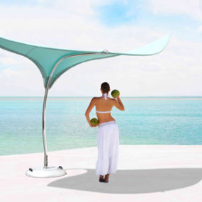 Cool Shade Parasol – 'Stingray' Shade Sculpture by Tuuci