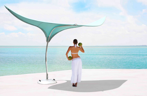cool shade parasol stingray tuuci 1 Cool Shade Parasol   Stingray Shade Sculpture by Tuuci
