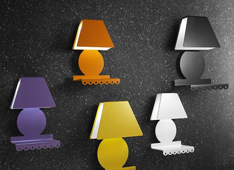 cool wall lamps with shelf zeroombra 2 Cool Wall Lamps with Shelf by Zeroombra