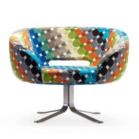 Retro Modern Chair by Cappellini  – the Multicolor Rive Droite Swivel Chair