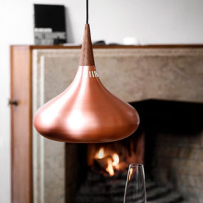 Copper Shade Pendants by Jo Hammerborg