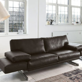 Leather Sofa with Adjustable Back Rests and Movable Footrests by Cor – Briol