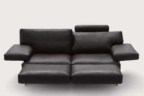 cor sofa briol 5 Leather Sofa with Adjustable Back Rests and Movable Footrests by Cor – Briol