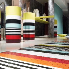 "2008 Corian exhibition by DuPont – ""Corian loves Missoni"" in Milan"
