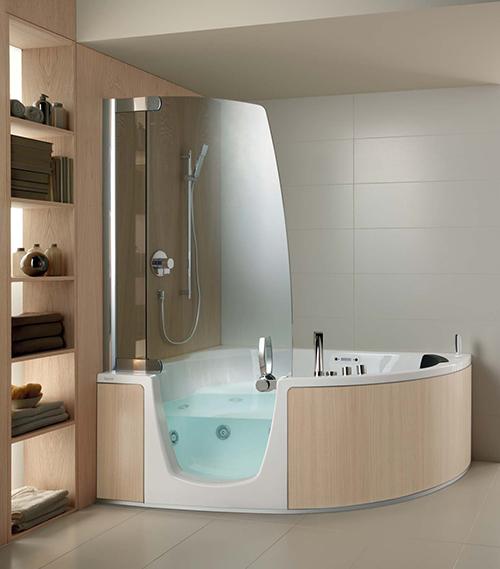 corner whirlpool shower combo teuco 2 Corner Whirlpool Shower Combo by Teuco